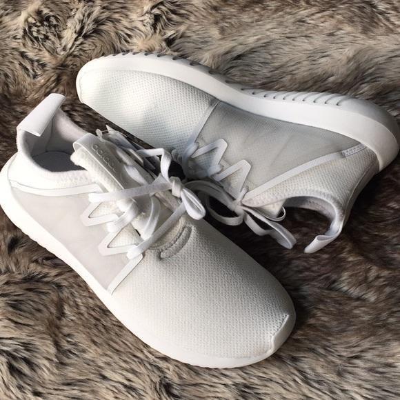 new arrival f4ff4 3da8c adidas Tubular Viral 2.0 White Sneakers 8.5 NWT